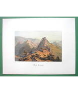 GERMANY Altenahr on Rhine River - COLOR Fine Quality Lithograph Print - $30.60