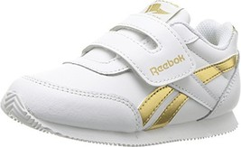 Reebok Kids Baby Girl's Royal CL Jogger 2RS KC Toddler White/Gold Metall... - $32.94