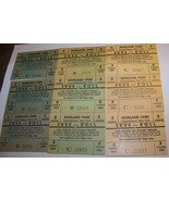 1957-63 LOT 9 VINTAGE ROSELAND PARK SKEE ROLL BALL TICKET STUB CANANDAIG... - $26.72
