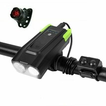 Set di luci anteriori per bicicletta USB ricaricabile 800 lumen LED 4000... - $37.17+