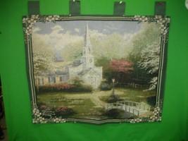 Vintage Thomas Kinkade Wall Hanging Tapestry Bible Verse Joshua 24:15 Ch... - $28.01
