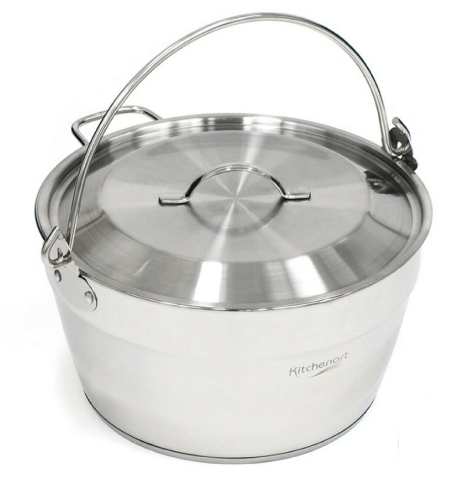 Kichenart Stainless Steel Induction Jam Pot Bucket Multipot Basket 9L (Lid)
