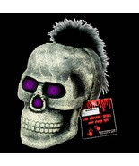 Life Size Gothic Punk SKULL FEATHER MOHAWK LED-Spooky Color Changing Dec... - $9.87