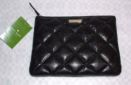 KATE BLACK QUILTED LEATHER LIBERTY STREET LITTLE GIA CLUTCH BAG NWT SOLD... - $79.98