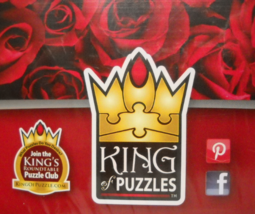 King Of Puzzles Jigsaw Puzzle Rose Amore Floral Scented 1000 Pieces Seal... - $11.99