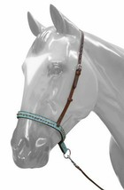 WESTERN HORSE TURQUOISE LEATHER TIE DOWN, NOSE BAND ROPING BARREL RACING... - $29.29