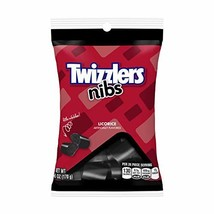 TWIZZLERS Licorice Candy, Black Licorice Nibs, 6 Ounce Pack of 12 image 1