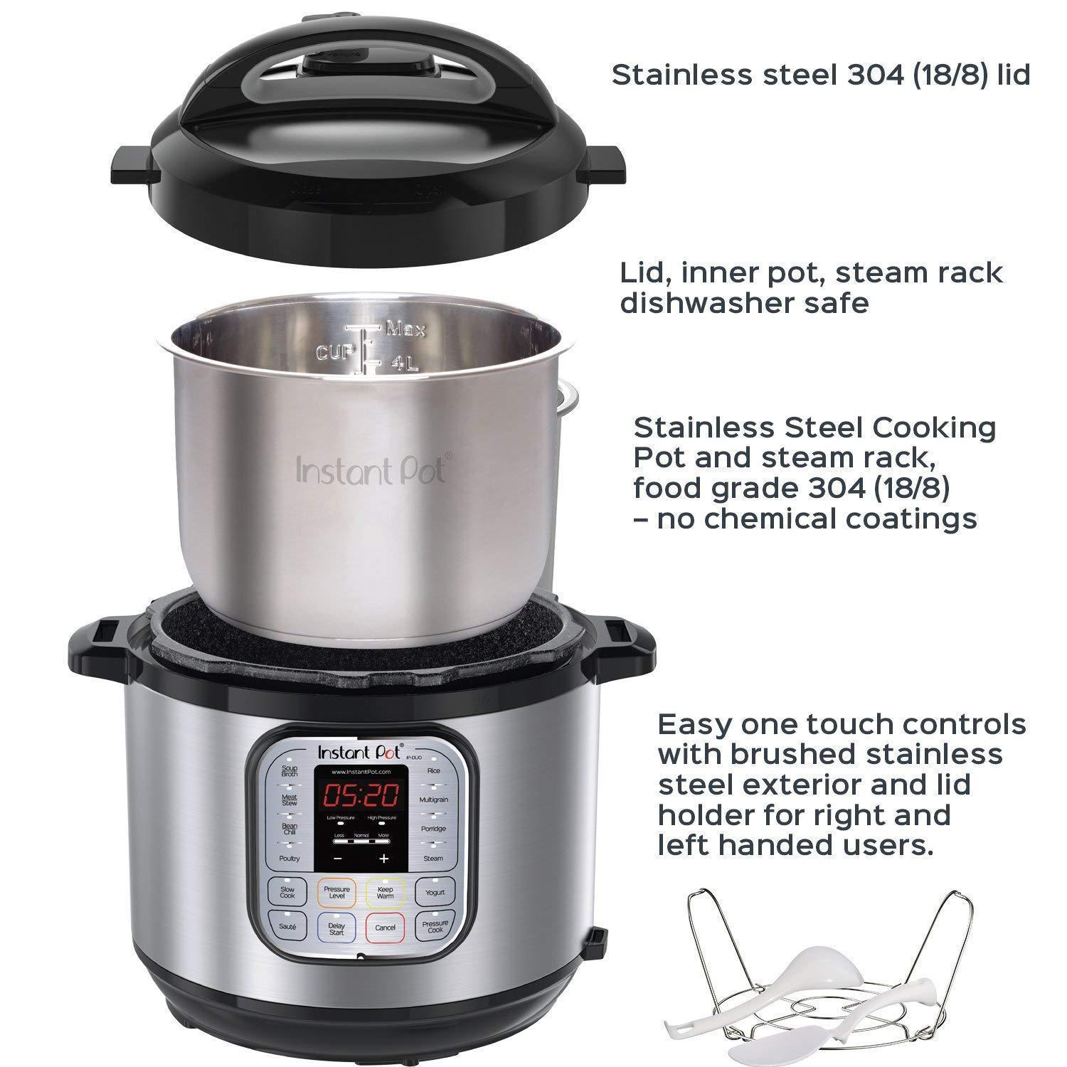 Instant Pot Duo60 V3 6 QT 7-in-1 Multi-use Programmable Pressure Cooker