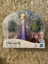 Frozen 2 Elsa & Trolls 2 Doll Figures Skirt Hasbro Adventure Small Snowflakes - $10.88