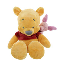 "disney parks floppy winnie the pooh & piglet 15"" plush toy new with tags - $33.47"