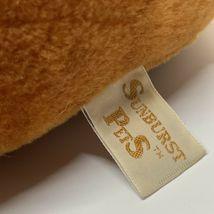"Sunburst Pets 1983 Vintage Plush Brown Dog Commonwealth Vtg Stuffed Animal 13"" image 10"