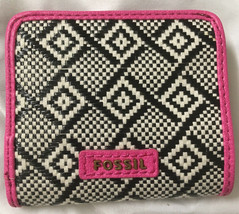 NWT Fossil Madison Woven Bifold Mini Wallet w/ Leather Trim +25%off next... - $19.99