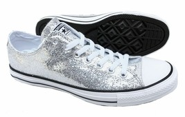 Converse All-Star Silver Glitter Chuck Taylor 135851C Men's 10 Women's 12 - $39.95