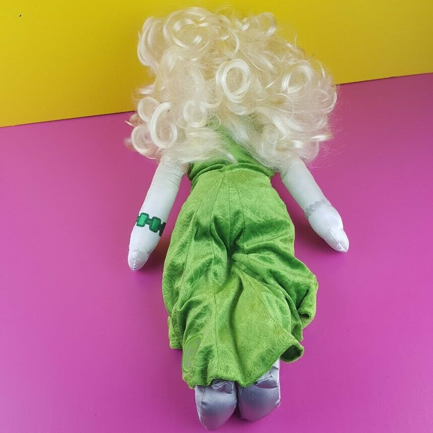 "Disney Store Plush Miss Piggy Doll Muppet Most Wanted Emerald Green Dress 20"" image 4"