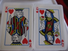 VINTAGE HOSTESS SOAPS ROYAL HEARTS KING & QUEEN PLAYING CARDS - $8.56