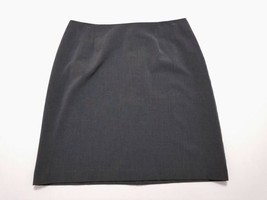 A P N Y Womens Gray Stretch Straight Skirt Size 12 Above Knee Length - $16.90