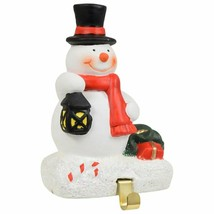 "Cement Christmas Snowman Stocking Holder 3.5""X5"" w - $8.99"