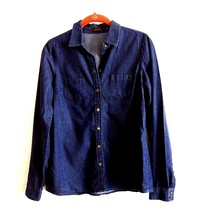 The Limited Dark Denim Shirt Long Sleeve Button Front Size S - $17.32