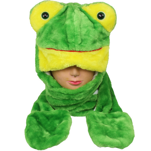 Case of [24] Frog Animal Winter Hats - Mittens