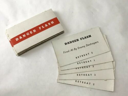 Vintage SPOT A PLANE WWII Board Game Danger Flash Replacement Deck 29 Cards