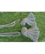 2 Huge Banded Tun Tonna Sulcosa Seashell Designer Tassels Unique Hand Cr... - $24.69