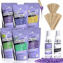 Hard Wax Beans Kit [6 Bags + Pre & After Spray] Hard Wax Beads Hair Removal - Wa image 10