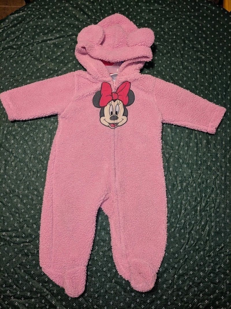 Disney Authentic Minnie Mouse Baby Bodysuit /& Headband 3 6 9 12 18 24 Months
