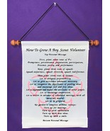 How To Grow A Boy Scout Volunteer - Personalized Wall Hanging (786-1) - $18.99