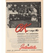 1945 Interstate Aircraft and Engineering Corporation Advertisement - $20.00
