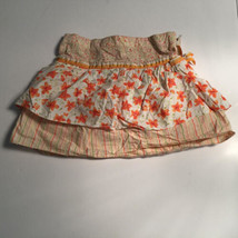 Gymboree Wildflower Fields Skirt Sz 5 Orange Flower Print - $10.35