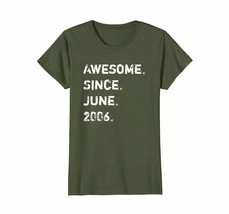 New Shirt -  Awesome Since June 2006 12 Years Old Birthday Gift Shirt Wowen - $19.95+