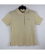 Vintage Haymaker Lacoste women's polo shirt polyester cotton beige size M - $16.69