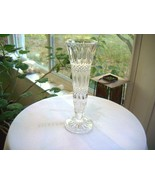 "Tall Cut Crystal Bud Vase 9"" Tall - $11.88"