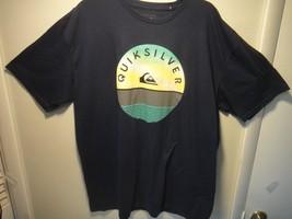 Quicksilver Mens T-Shirt Regular Fit Color Dark Blue Size XL - $23.33
