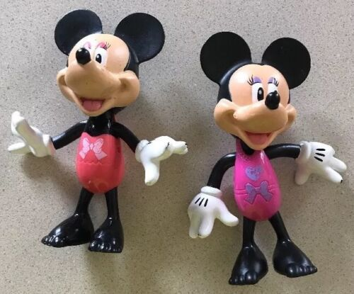 "Primary image for 2 Disney Minnie & Mickey Mouse Toy Figures Hard Plastic 2011 Mattel 5.5"" Solid"