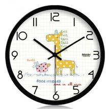 PANDA SUPERSTORE (Giraffe) 10-inch Silent fashion Art Pastoral Round Wall Clock, - $48.04