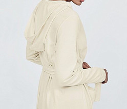 EILEEN FISHER S Robe Hooded Wrap Style Pure Cotton Soft White   NWT - ₹7,124.91 INR