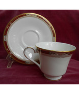 ROYAL DOULTON SANDON COFFEE CUP SAUCER H5172 GOLD BONE CHINA ENGLAND ENG... - $21.03