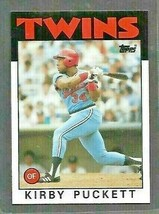 1986 TOPPS Set Break #329 Kirby Puckett NM-MT Hall of Famer Baseball Card!  - $1.31