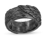 Enchanted Disney Men's Raven Wings Ring in Sterling Silver with Black Rhodium - £64.14 GBP