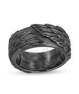 Enchanted Disney Men's Raven Wings Ring in Sterling Silver with Black Rh... - £62.98 GBP