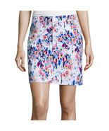 St. John's Bay Floral Twill Skort Size 16 New - $21.99