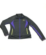 FILA Mens Active Track Jacket Size Medium Runner Purple Semi Fitted Thum... - $14.12
