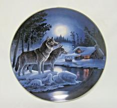 """Bradford Exchange """"Silent Sentries"""" Nightwatch The Wolf Plate 8""""D - $9.99"""