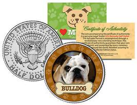 BULLDOG Dog JFK Kennedy Half Dollar US Colorized Coin - $8.86