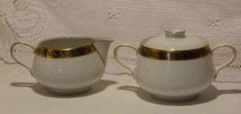 Rosenthal Germany Form E/Modell Sugar Bowl and Creamer Set R.Loewy White... - $34.98