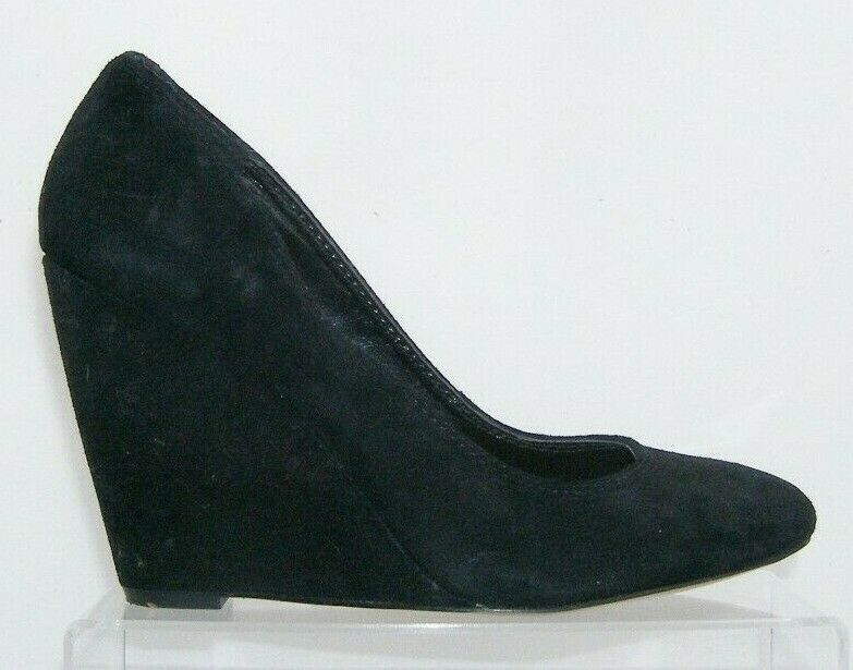 Jessica Simpson 'Amari' black suede amond toe slip on womens wedges 8.5B image 7