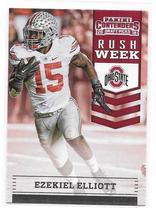 2016 Panini Contenders Draft Picks Ezekiel Elliott Rush Week Insert Card - $3.95