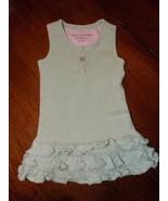 Burt's Bees Green Organic Cotton Ruffle Sleeveless Dress Size 6/9 Months... - $17.01