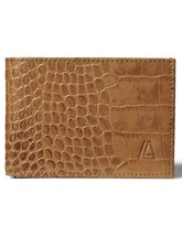 Men's 100% Leather Wallet with RFID protection- Cognac - $20.27